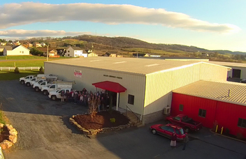 Poultry Specialties' new building incorporates a product showroom, customer training facility and an extensive inventory of complete poultry systems and parts.