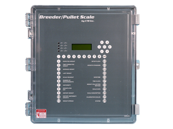 Breeder/Pullet Scale Control has up to eight scale inputs allows for multiple house connection. Each weighing platform can weigh birds in two different weight ranges (males and females).