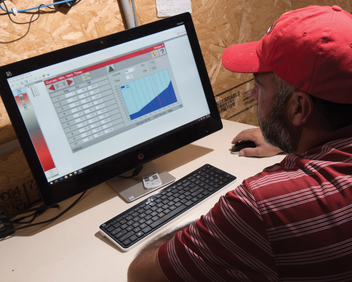 Monitor and adjust multiple controls from the farm or off site. Critical data can be presented on-screen or printed, as a table or graph.