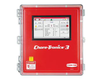 CHORE-TRONICS® 3 Control with Sample Current Conditions Screen Shown.