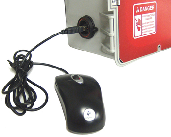 USB port gives you the option to operate controls with a wired or wireless mouse.