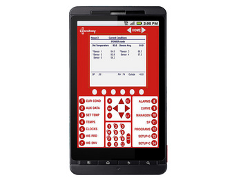 View CHORE-TRONICS 2 control information via a web display of the control screen using a web browser on Java-compatible mobile device.