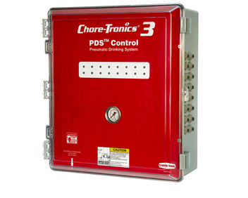 Chore-Time's CHORE-TRONICS® 3 PDS™ 16-Station Control with enclosed components