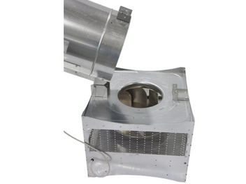 Combustion tower can be folded over for cleaning and winching.