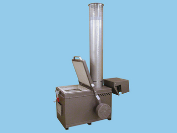 Low height of chamber and counter-weighted top make loading easy.