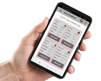 CHORE‑TRONICS® Mobile App - Farm Conditions Display