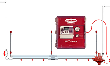 Pneumatically control the water column on up to 64 regulators using Chore-Time's PDS™ Control.