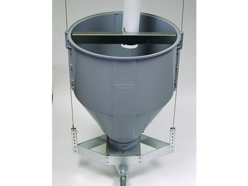 Chore-Time's Plastic Feeder Line Hopper is patented with additional patents pending.
