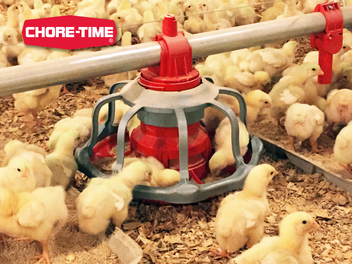 The REVOLUTION® Floor Flood Feeder's 14-inch diameter gives more feeding space per pan, plus you get the choice of a grill with 8 or 12 spokes.