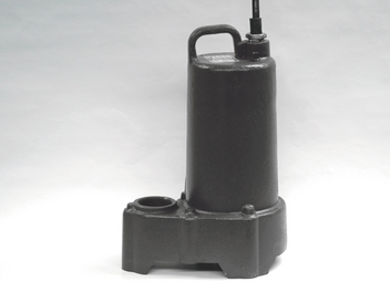 Heavy-Duty Submersible Pump features a cast-iron motor housing, upper & lower ball bearings, and 230-volt operation.