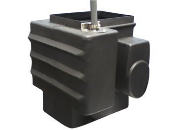 Clever sump tank design allows tank to be mounted at either end or in the middle of system.