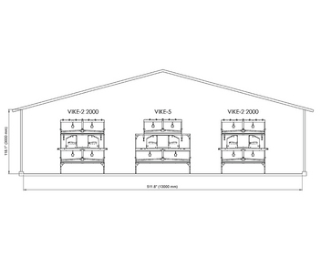 Combine different VIKE configurations for optimal poultry house layout