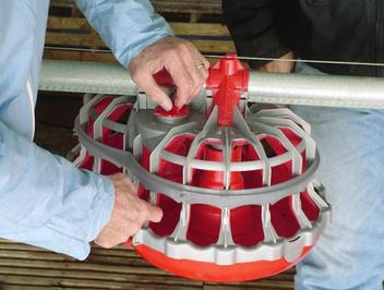 Adjust hen grill opening width from 41-50 mm and height from 55-75 mm to keep the roosters out.