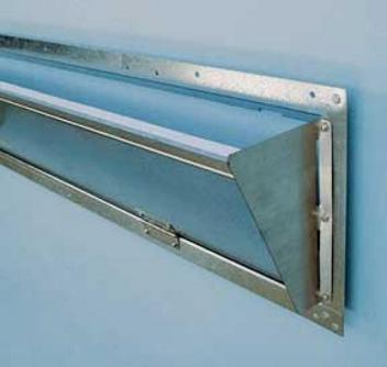 Fold-out shields direct air and increase air flow velocity through inlet.